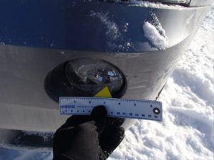 Scratches on bumper used car inspection report